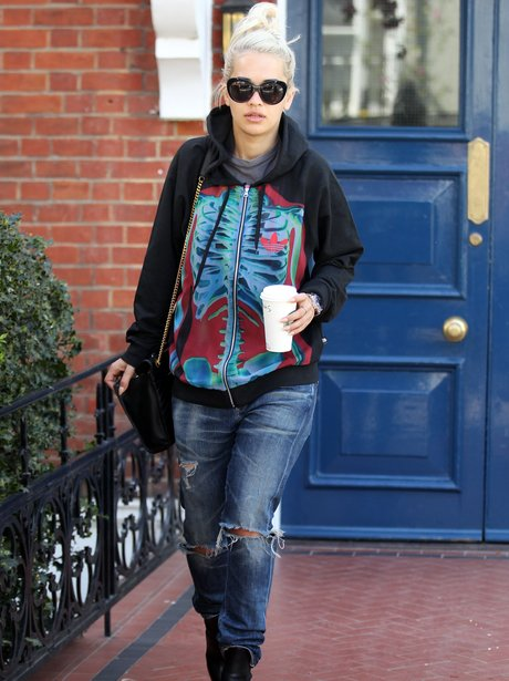 Rita Ora Jumper Casual Ripped Jeans