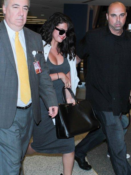 Selena Gomez at the airport