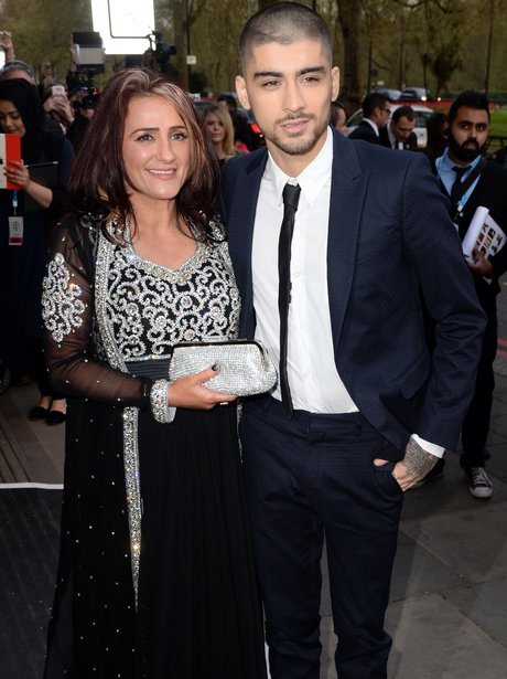 Zayn Malik with his mum