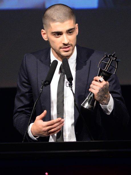 Zayn Malik Shaved Head Asian Music Awards 2015