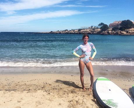 Millie Mackintosh Surfing