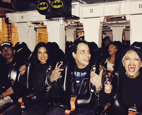 Rita Ora on a rollercoaster