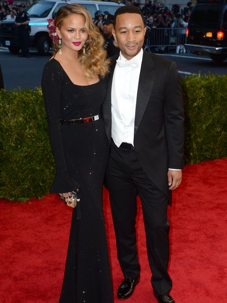 John Legend and Chrissy Teigen MET Ball 2015