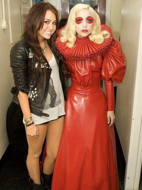 Miley Cyrus and Lady Gaga