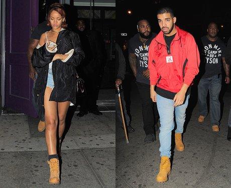 Rihanna and Drake Leaving Club