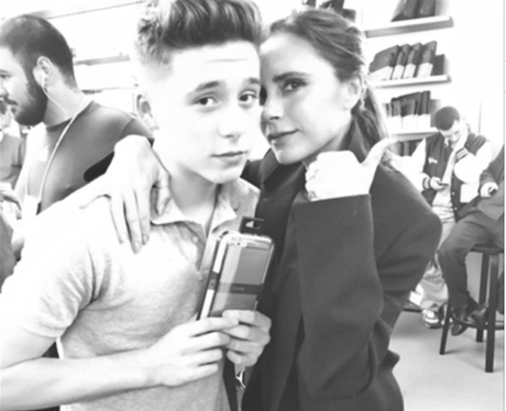 Brooklyn Beckham and Victoria