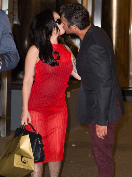 Lady Gaga and Taylor Kinney Kissing