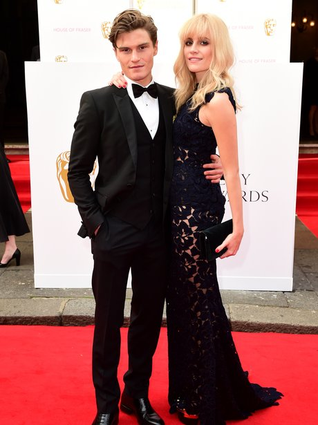 Oliver Cheshire and Pixie Lott Baftas 2015