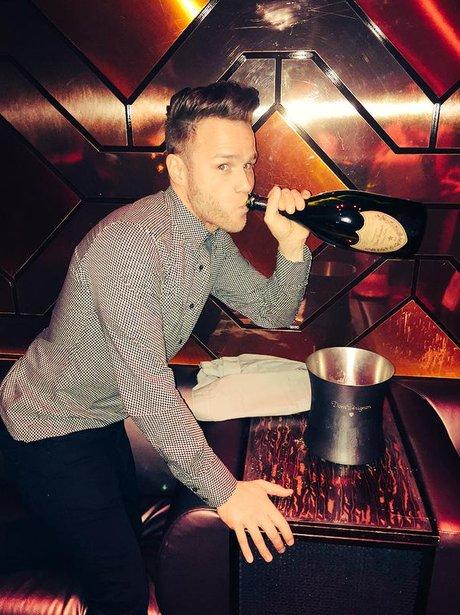 Olly Murs drinking