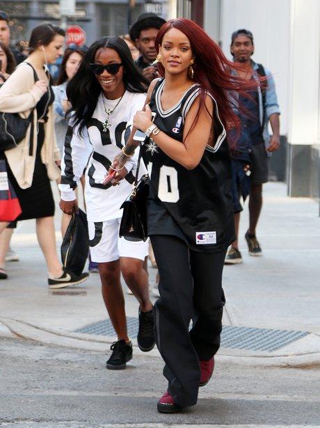Rihanna and Melissa Forde Running