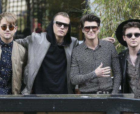 Rixton outside the ITV Studios