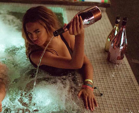 Beyonce Hot Tub Champagne Controversy