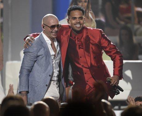 Chris Brown and Pitbull Billboard Music Awards 201
