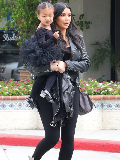Kim Kardashian and North West Black Outfits