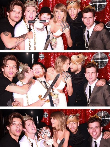 Louis Tomlinson, Niall Horan, Ed Sheeran , Taylor