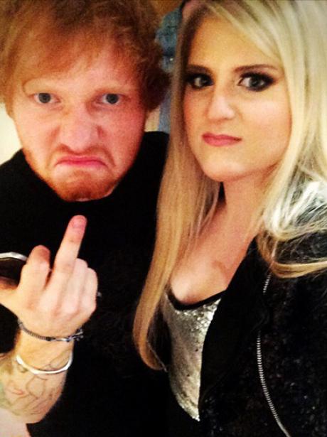 Meghan Trainor and Ed Sheeran
