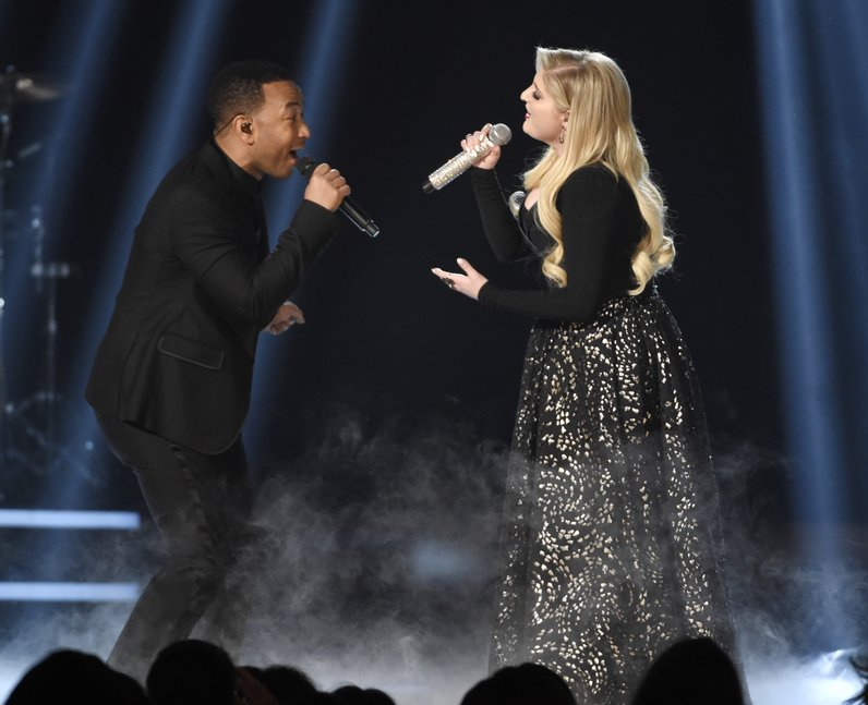 Meghan Trainor and John Legend Billboard Awards