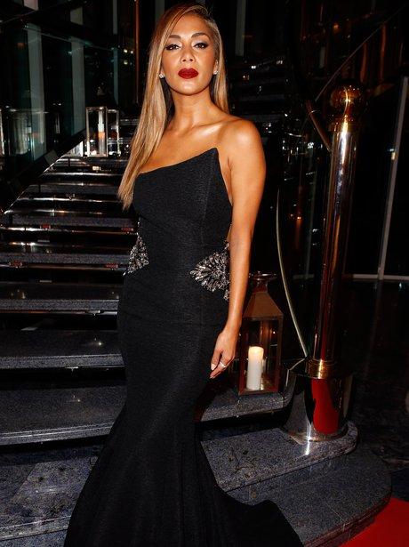 Nicole Scherzinger wearing a black dress