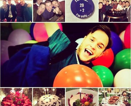 Olly Murs celebrating his birthday