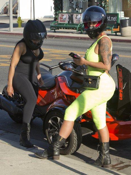 Amber Rose and Black Chyna Quad bike