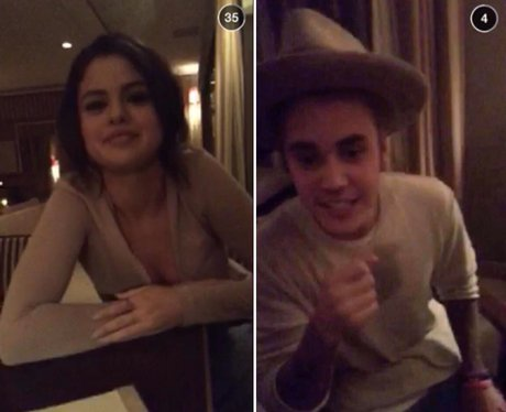 Justin Bieber and Selena Gomez Snap Chat