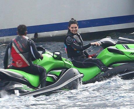 Kendall Jenner and Lewis Hamilton Jet Ski