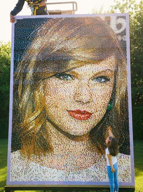 Taylor Swift Lego Portrait