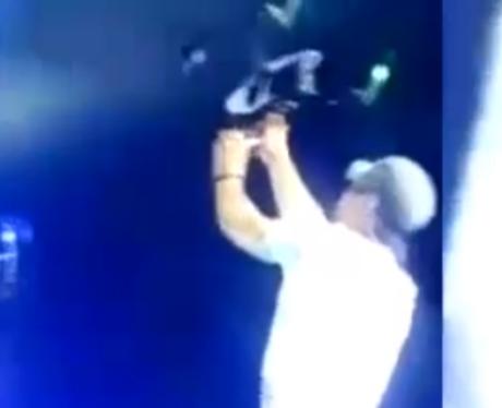 Enrique Iglesias drone on stage