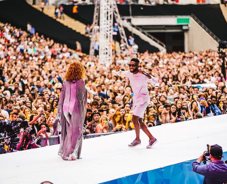 Jess Glynne and Tinie Tempah Live Summertime Ball 2015