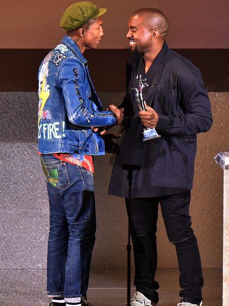 Kanye West and Pharrell 2015 CFDA Fashion Awards