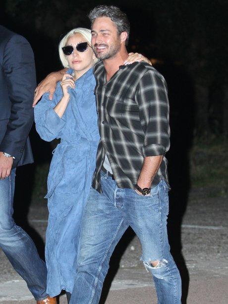 Lady Gaga with finace Taylor Kinney