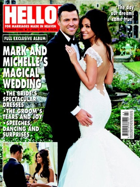 Michelle Keegan and Mark Wright Hello! Cover Offic
