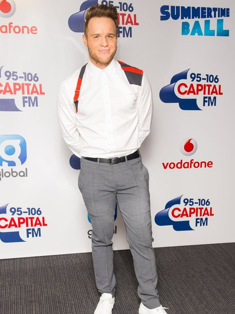 Olly Murs Red Carpet at the Summertime Ball 2015