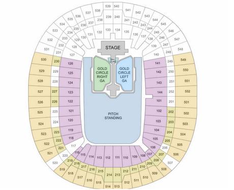 Summertime Ball Wembley Stadium Seating Plan 2015