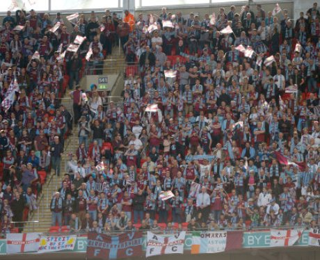 Villa fans as the FA Cup final begins
