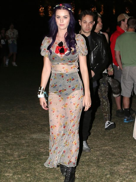 Katy Perry Sheer Dress at Coachella