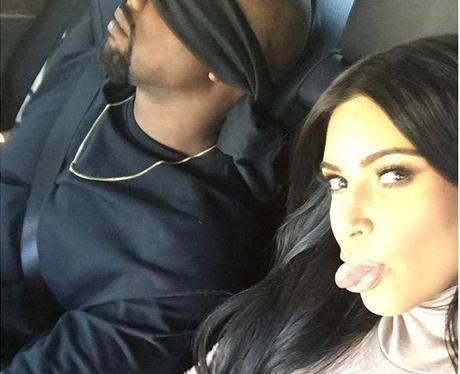 Kim Kardashian and Kanye West suprise