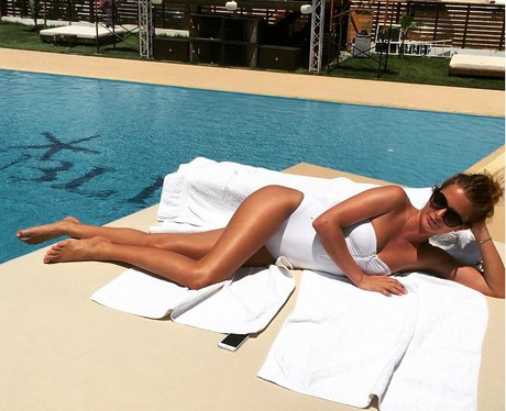 Millie Mackintosh in a swimming costume