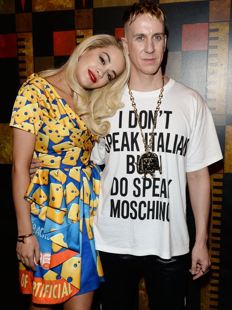 Rita Ora Cheese Dress Milan Fashion Week