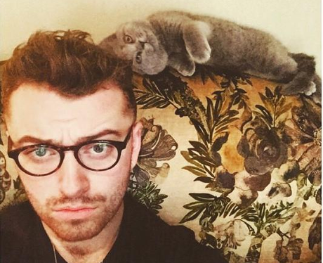 Sam Smith and his cat