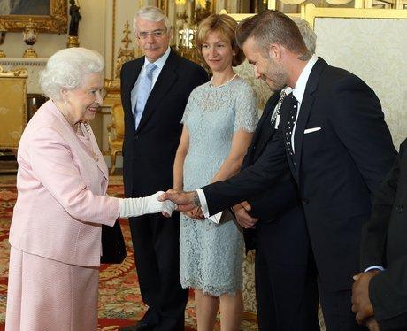 David Beckham & Queen Elizabeth II