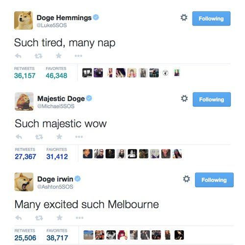 Much Confuse Find Out Why 5sos Are All Now Doge Capital
