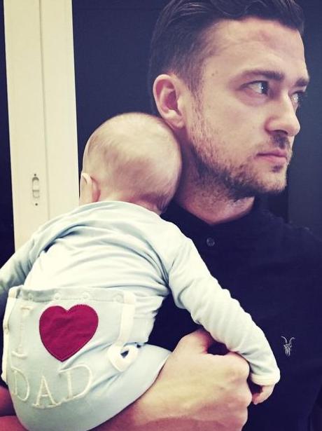 Justin Timberlake and Baby Silas