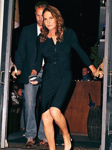 Caitlyn Jenner wearing a black dress