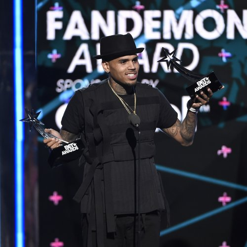 Chris brown wins at the 2015 BET Awards in LA