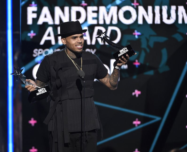 Chris Brown at the 2015 BET Awards