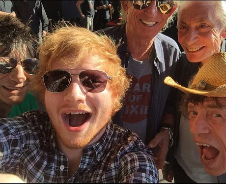 Ed Sheeran and Rolling Stones Selfie