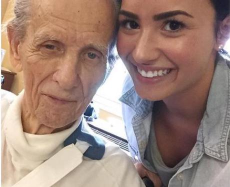 Demi Lovato with her Grandad Instagram