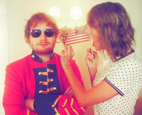 Ed Sheeran attends Taylor Swift's 4th July party