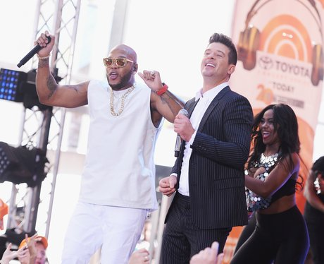 Flo Rida and Robin Thicke perform on NBC's 'Today'